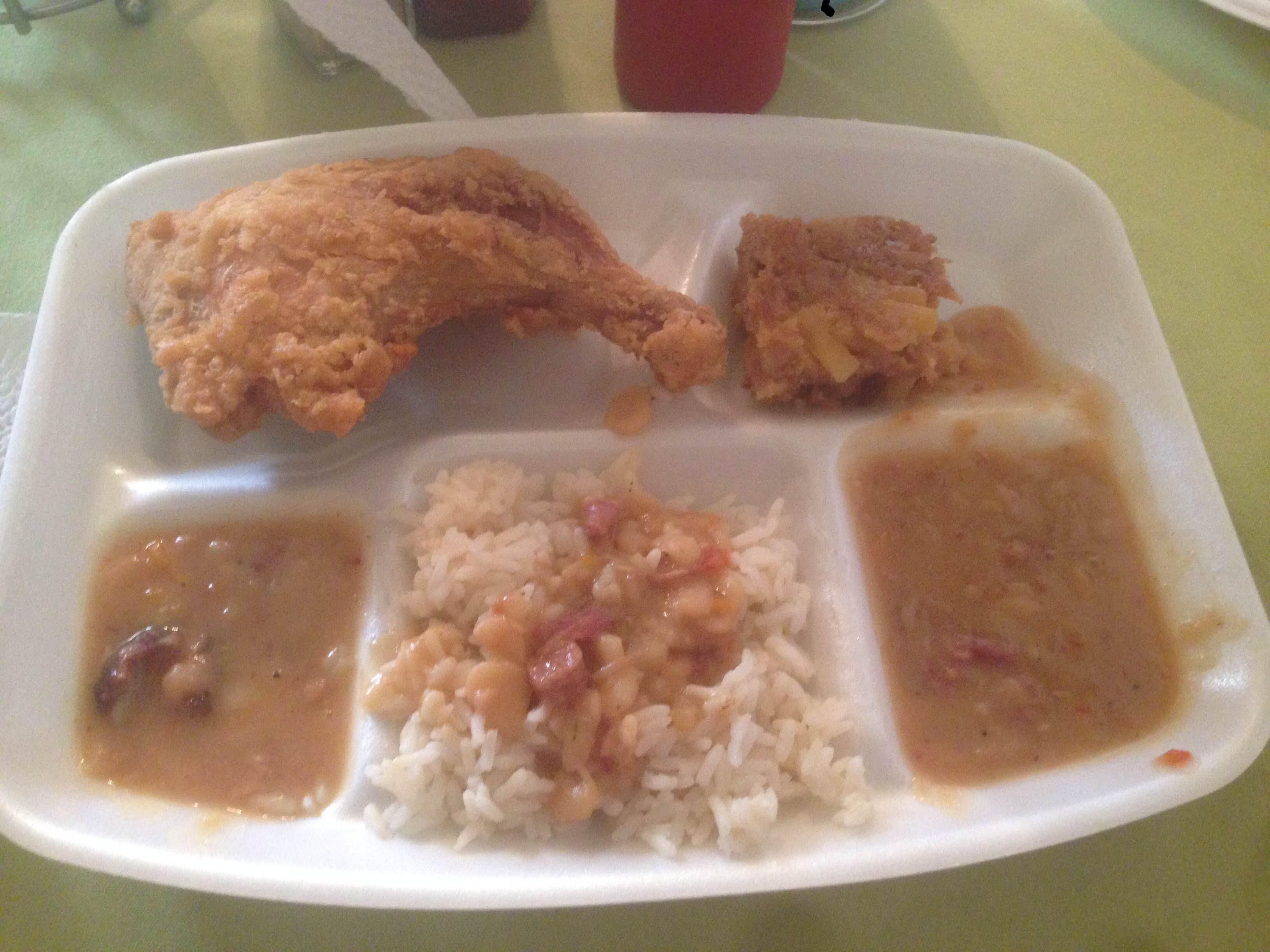 Martha Lou's fried chicken
